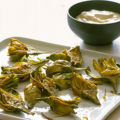 su-Sesame Fried Artichokes