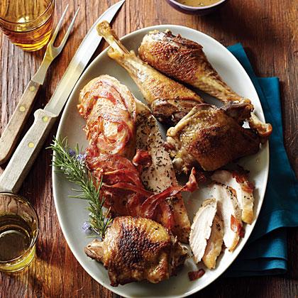 su-Heritage Turkey with Crisped Pancetta and Rosemary