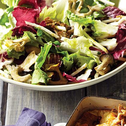 su-Mushroom, Chicory, and Celery-Root Salad