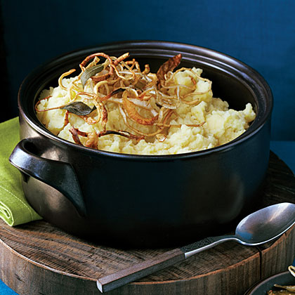 su-Mashed Potatoes and Parsnips with Crisp Root Vegetable Strips