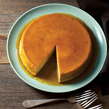 su-Caramelized Orange Pumpkin Flan