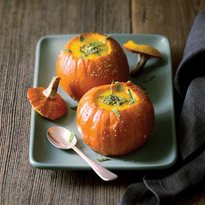 su-Roasted Mini-Pumpkin Bowls