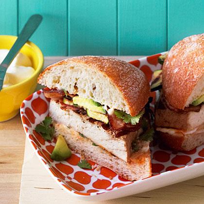 su-Grilled Tofu, Bacon, and Avocado Sandwiches