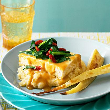 su-Miso-Glazed Tofu with Parsnips Two Ways