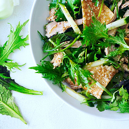 su-Sesame Chinese Chicken Salad with Asian Greens