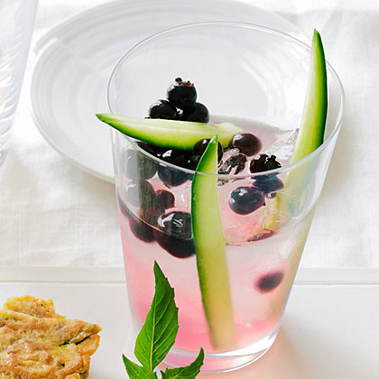 su-Cucumber, Soju, and Blueberry Shrub Cocktail