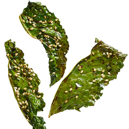 su-Soy and Sesame Kale Chips