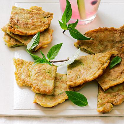 su-Zucchini and Thai Basil Pancakes