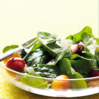 su-Cherry and Bacon Spinach Salad