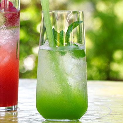 su-Green Gin Cocktail