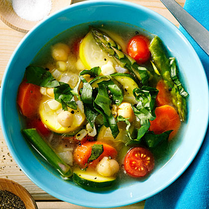 su-Quick Chickpea and Summer Vegetable Stew