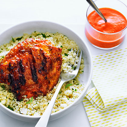 su-Cashew Romesco Chicken Thighs