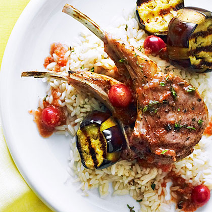 su-Grilled Lamb Chops with Turkish Grape Sauce
