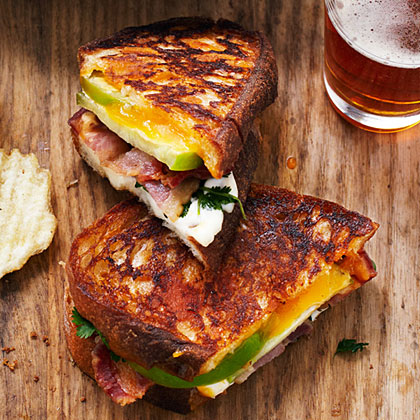 su-Tomatillo Grilled Cheese and Bacon Sandwiches