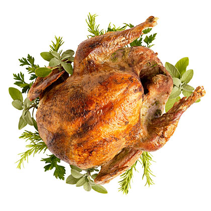su-Grill-Roasted Turkey with Herb Mustard Butter