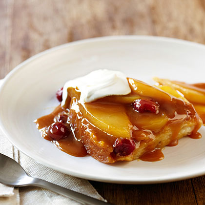 su-Caramel Pear and Cranberry Pudding Cake