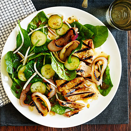 su-Chinese Black Pepper Pork and Spinach Salad