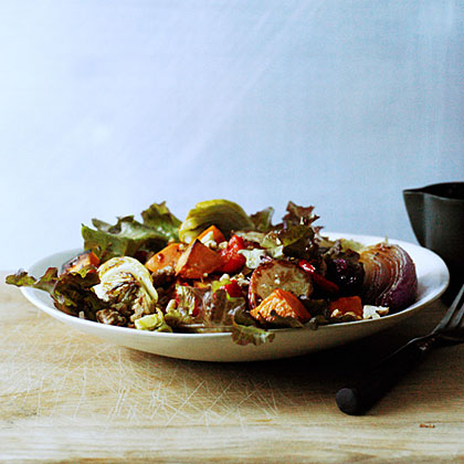 su-Roasted Vegetable Salad with Honey Dressing