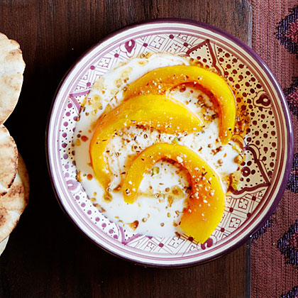 su-Kabocha Squash with Dukkah and Cider Molasses