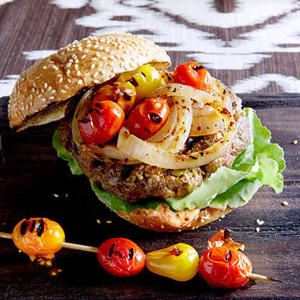 su-Pistachio, Lamb, and Beef Burgers