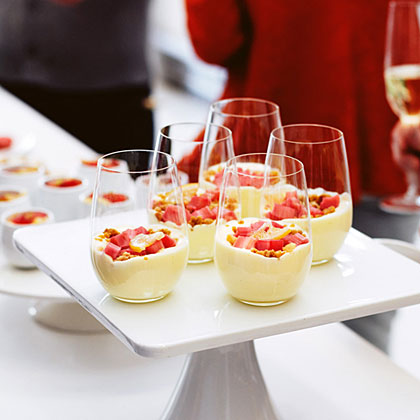 su-Rhubarb Verrines with Salty Macadamia Crumble