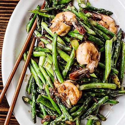 su-Asparagus Shrimp Stir-Fry