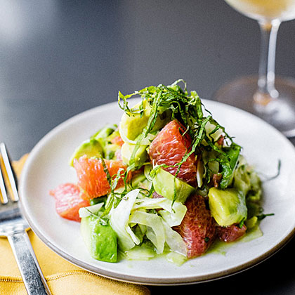 su-Avocado, Grapefruit, and Shiso Salad