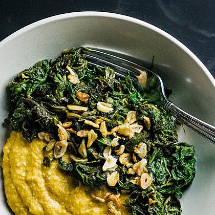 su-Garlicky Mustard Greens