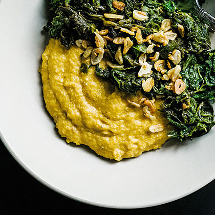 su-Grits with Creamed Cashews
