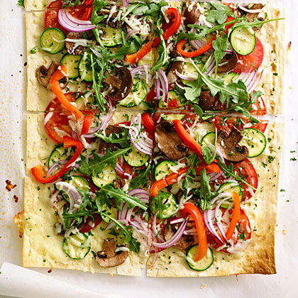 su-Herbed Flatbread Pizzas
