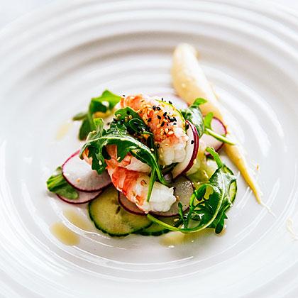 su-Spot Prawn Sesame Salad