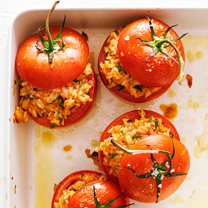 su-Risotto-Stuffed Tomatoes
