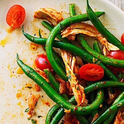 su-Korean-Style Chicken and Green Bean Salad