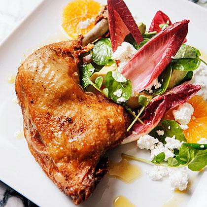 su-Orange Endive Salad with Chicken Confit