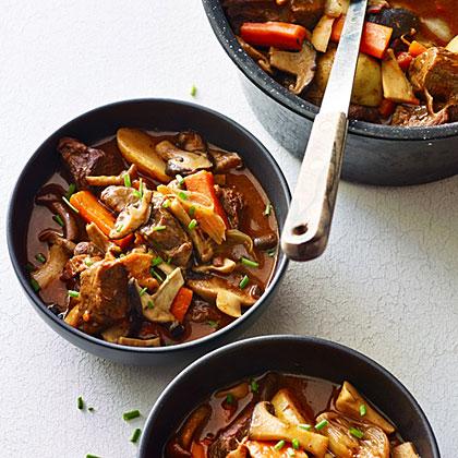 su-Mushroom, Beef, and Bacon Stew
