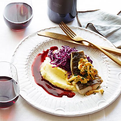 su-Black Cod with Red Cabbage and Pomegranate Brown Butter