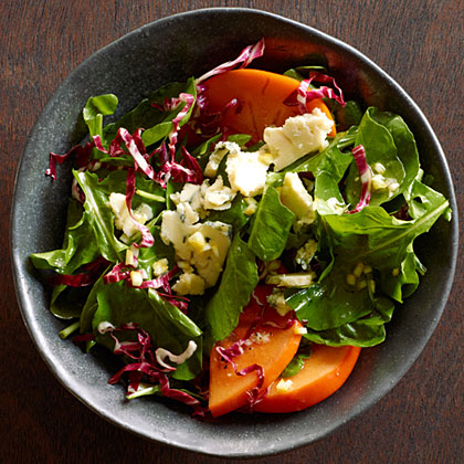 su-Fall Greens Persimmon Salad