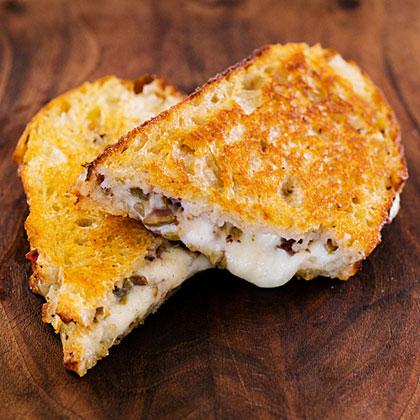 su-Nan's Grilled Mozzarella and Olive Sandwich