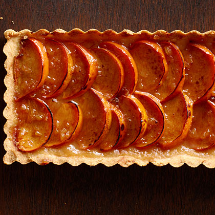 su-Spiced Persimmon Tart with Brandy Mascarpone