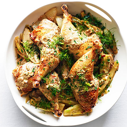 su-Quick-Braised Chicken with Caramelized Fennel and Endive