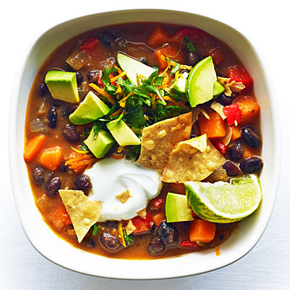 su-Sweet Potato and Black Bean Chili