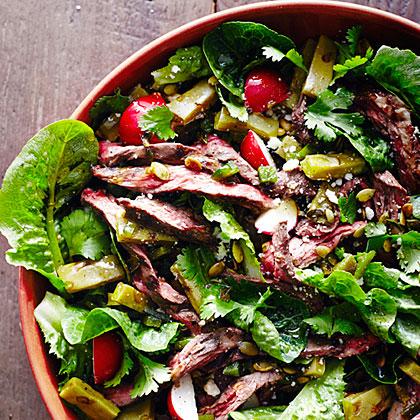 su-Grilled Steak and Nopales Salad