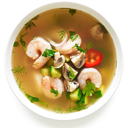 su-Hot and Sour Shrimp Soup