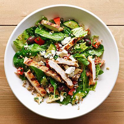 su-Grilled Chicken and Bulgur Salad