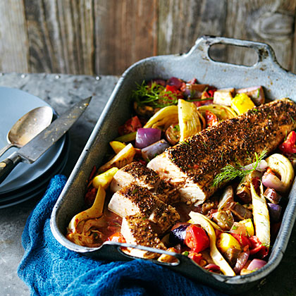 su-Tuna Roast with Ratatouille