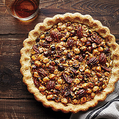su-Hazelnut, Pecan, and Bourbon Pie