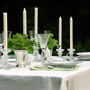 Set a romantic table outside