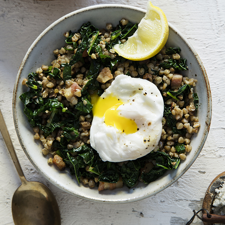 su-Kasha with Kale and Pancetta Image
