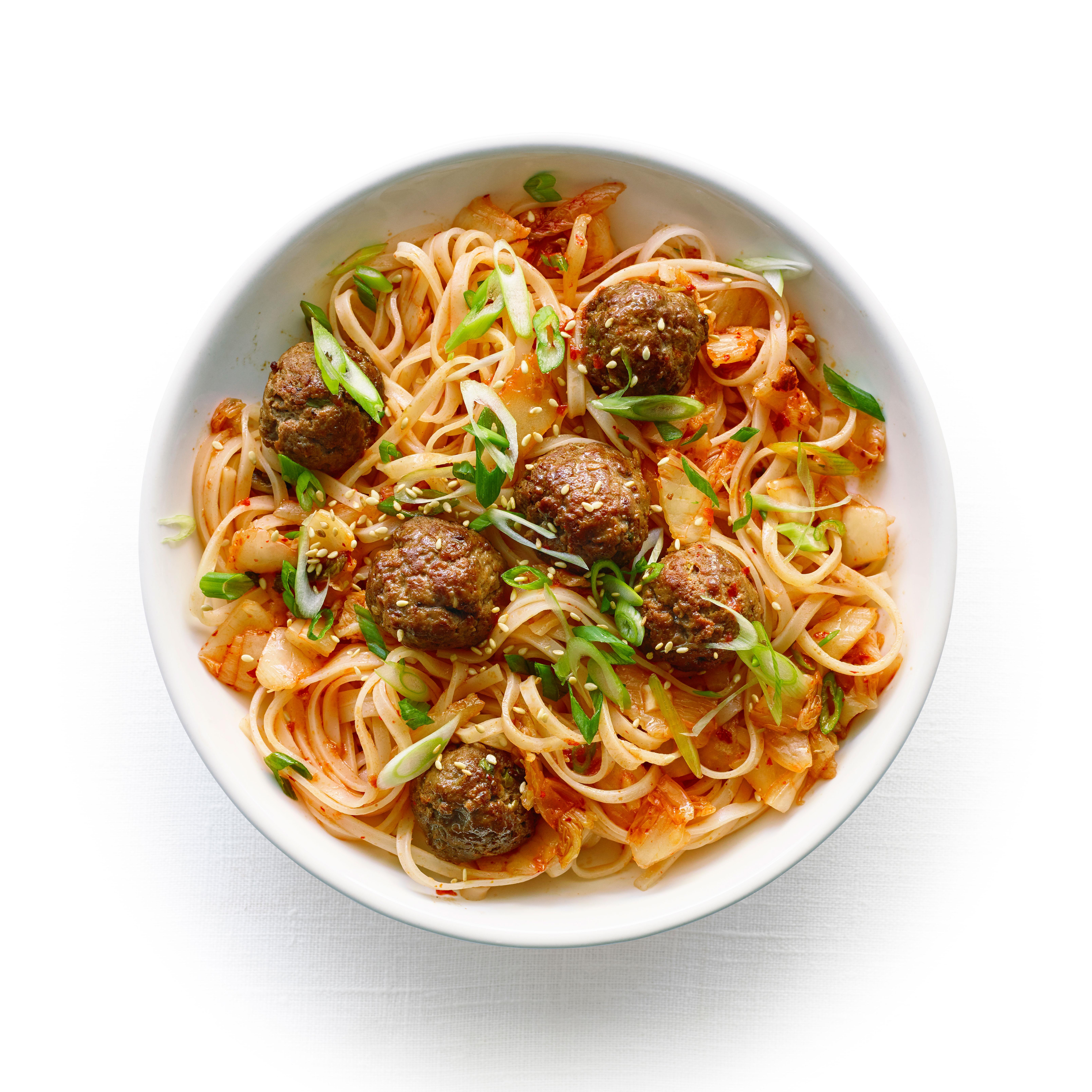 su-Korean Spaghetti and Meatballs Image