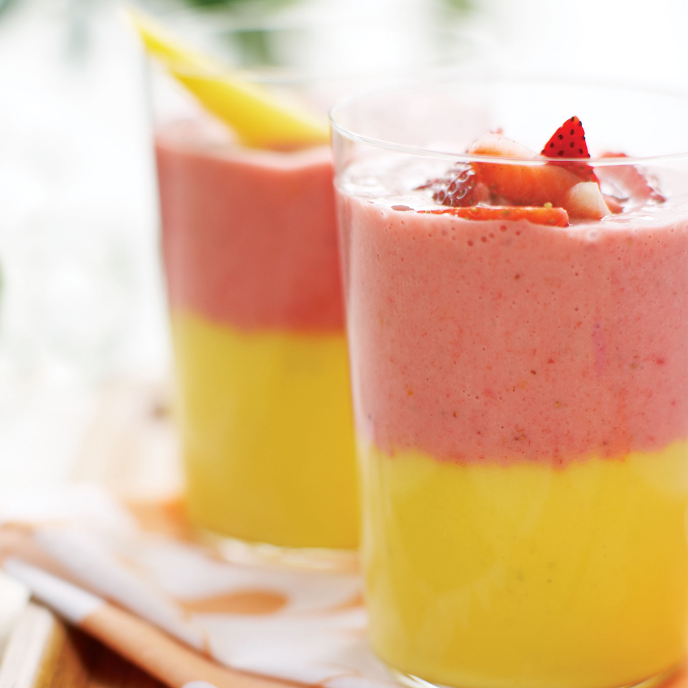 Layered Fruit Smoothie Recipe